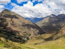 Paisaje de Pisaq, en el valle sagrado de los incas Imagen de archivo libre de regalías