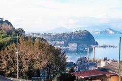 Paisaje de Posillipo, Nápoles Fotografía de archivo