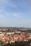 Paisaje de Praga de la colina de Petrin Imagenes de archivo