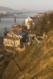 Paisaje de Praga en la puesta del sol Imagen de archivo libre de regalías