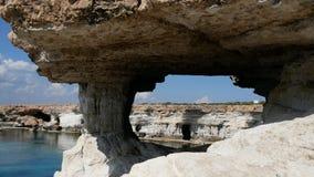 Paisaje de Protaras, mar de Meditarian, Chipre almacen de video
