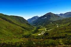 Paisaje de Pyrenees franceses foto de archivo