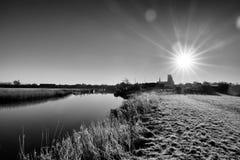 Paisaje de Ribe, Dinamarca Foto de archivo