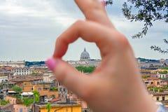 Paisaje de Roma Imagen de archivo libre de regalías