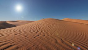 Paisaje de Sahara Desert, dunas maravillosas temprano por la mañana almacen de video