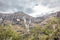 Paisaje de Santa Cruz Trek, Blanca de Cordillera, Peru South America Imagen de archivo libre de regalías