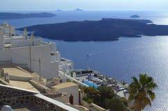 Paisaje de Santorini Fotos de archivo