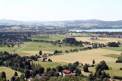 Paisaje de Schloss Neuschwanstein, Baviera Imágenes de archivo libres de regalías