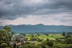 Paisaje de septentrional del pueblo de Tailandia foto de archivo libre de regalías
