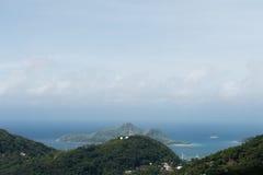 Paisaje de Seychelles, isla de Mahe Fotos de archivo libres de regalías