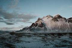 Paisaje de Stokksnes, Islandia Fotografía de archivo libre de regalías