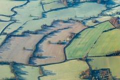 Paisaje de Sussex del aire Foto de archivo