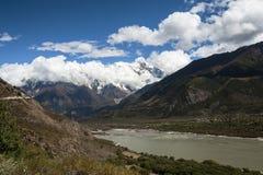 Paisaje de Tíbet Fotografía de archivo libre de regalías
