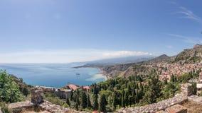 Paisaje de Taormina Fotos de archivo