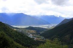 Paisaje de Tibets Imágenes de archivo libres de regalías