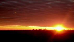 Paisaje de Timelapse de la puesta del sol almacen de metraje de vídeo