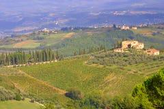 Paisaje de Toscana - Italia fotografía de archivo libre de regalías