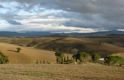 Paisaje de Toscana, Italia Foto de archivo