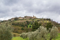 Paisaje de Toscana, Italia Imagenes de archivo