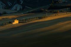 Paisaje de Toscana, Italia - de Toscana con Rolling Hills Foto de archivo