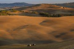 Paisaje de Toscana, Italia - de Toscana con Rolling Hills Imagenes de archivo