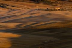 Paisaje de Toscana, Italia - de Toscana con Rolling Hills Fotografía de archivo libre de regalías