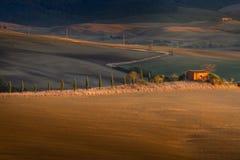 Paisaje de Toscana, Italia - de Toscana con Rolling Hills Fotos de archivo