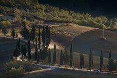 Paisaje de Toscana, Italia - de Toscana con Rolling Hills Fotografía de archivo