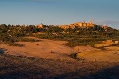 Paisaje de Toscana, Italia - de Toscana con Rolling Hills Imágenes de archivo libres de regalías