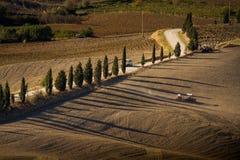 Paisaje de Toscana, Italia - de Toscana con Rolling Hills Fotos de archivo libres de regalías
