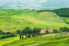 Paisaje de Toscana - de Italia en primavera Fotografía de archivo libre de regalías
