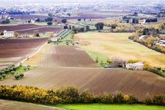 Paisaje de Umbrian en otoño imagen de archivo libre de regalías