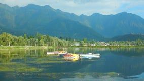 Paisaje de un lago Dal en Cachemira-Ii imagenes de archivo