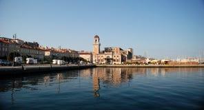 Paisaje de un puerto en Trieste Imagen de archivo libre de regalías