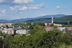 Paisaje de Uzhorod Oblast de Zakarpatska Imagen de archivo libre de regalías