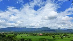 Paisaje de Vang Vieng Foto de archivo libre de regalías