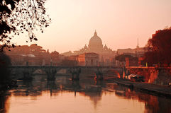 Paisaje de Vatican Foto de archivo libre de regalías