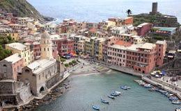 Paisaje de Vernazza en Cinque Terre Fotos de archivo libres de regalías