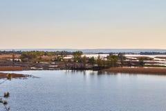 Paisaje de Volga de la primavera Imagenes de archivo