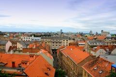 Paisaje de Zagreb - Croacia foto de archivo