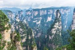 Paisaje de Zhangjiajie Forest Park nacional, mundo Heri de la UNESCO fotos de archivo