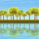 Paisaje del árbol del verano Imagenes de archivo