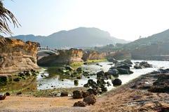 Paisaje del acantilado de la roca Imagen de archivo