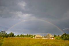 Paisaje del arco iris Imagen de archivo libre de regalías