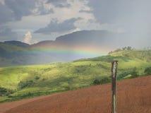 Paisaje del arco iris Foto de archivo