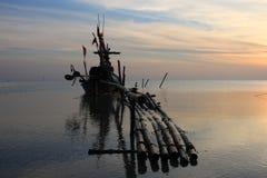 Paisaje del barco de pesca Paisaje Imagenes de archivo