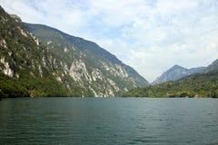 Paisaje del barranco del río de Drina Imagen de archivo libre de regalías