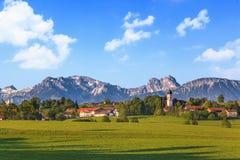 Paisaje del Bavarian en Alemania foto de archivo