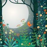 Paisaje del bosque. ilustración del vector