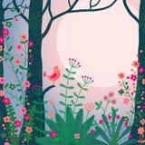 Paisaje del bosque. stock de ilustración